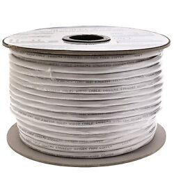 250 ft Stranded copper 14/2 white speaker cable (30 packs) by NETCNA