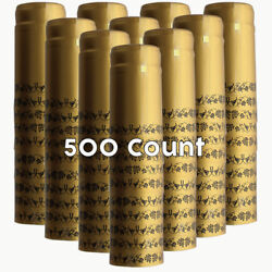 Gold With Black Grapes Pvc Shrink Capsules-500 Count