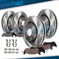 Front Rear Brake Rotors Ceramic Pads Kit for 2004 2005 2006 15 Nissan Quest $113.29