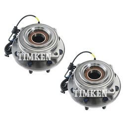 Pair Set Of 2 Front Timken Wheel Bearing And Hub Kit For Ford F-350 Sd 11-16 4wd
