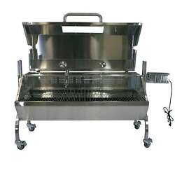 Titan Great Outdoors Rotisserie Grill 25w Roaster Spit Hooded Cover Glass Window