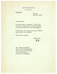 Dwight D. Eisenhower Letter Signed - Writes To Winston S. Churchill Re/ Cold War