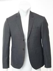 Thom Browne Mens Wool Charcoal 3-button Blazer Jacket Coat 0/36 New Made In Usa