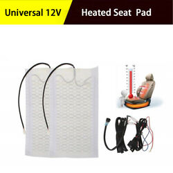 12V Carbon Fiber Heated Seat Heating Heater Pads High Low Switch Universal 1 SET