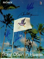 Golf Stars Sony Open 1999 Inaugural Tour Guide Hand Signed X6 Paas Coa