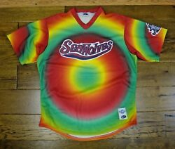Gary Templeton Signed Game Worn Used Erie Sea Wolves Baseball Jersey