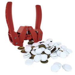 Red Baron Bottle Capper With White Crown Oxygen Barrier Beer Bottle Caps 144...
