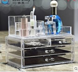 Clear Makeup Case Cosmetic Organizer Bag Jewelry storage Acrylic Cabinet Box