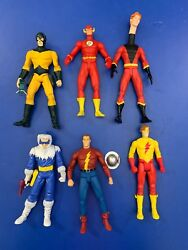 Dc Direct Flash Lot Of 6 Loose Action Figures Captain Cold Wally West Mc