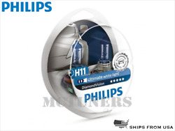 NEW! PHILIPS Diamond Vision H11 Headlight halogen bulbs 12362DVS2 POLAND x2