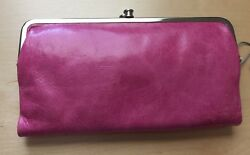 NWT HOBO INTERNATIONAL Begonia Pink Leather Lauren Clutch Wallet SOLD OUT