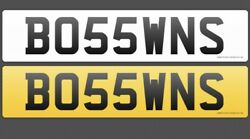 Bo55 Wns Cherished Private Number Plate Boss Wins Boss Boss Wns
