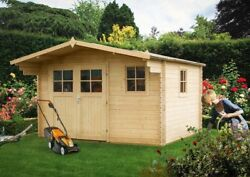 Heavy Duty Wooden Outdoor Summer House Garden Roomcabin Shed Office Mancave