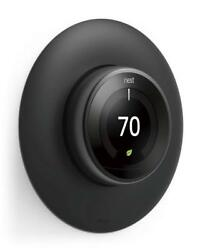elago Wall Plate Cover for Nest Learning Thermostat [Matte Black] - [Double Coat