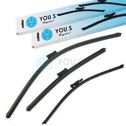 YOU.S Windshield Wiper Blades Set Front+Rear for Fiat  Vauxhall