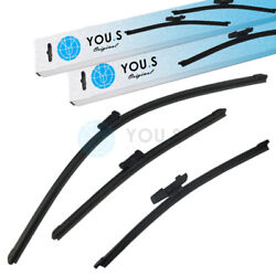 YOU.S Windshield Wiper Wiper Blades Set Front+Rear for Seat  SkodaVW