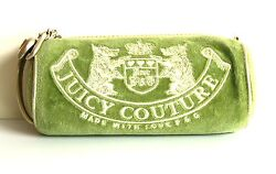 Juicy Couture Green Barrel Cosmetic Clutch Wristlet  $98