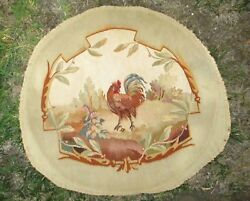 An Antique Tapestry Upholstery with Rooster