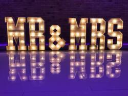 Large 4ft Light Up Letters For Sale Mr And Mrs Wood Cabochon Weddings Event