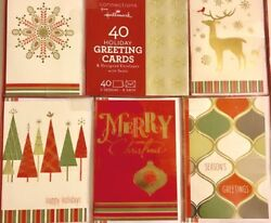 Hallmark 40 Holiday Greeting Cards And Designed Envelopes With Seals Designs