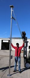 Stainless Radar Pole Mount With Outboard Dingy Engine Bracket And Crane Mount