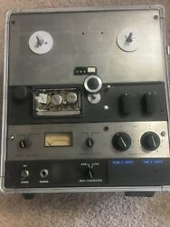 Ampex Ag-600b 1/4 Mono Tape Recorder - Portable In Case Classic Vintage