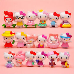 18pcs Hello Kitty Japanese Anime Action Figures Collectibles Toy Dolls