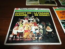 VTG 1973 View Master DISNEY ON PARADE 3 Reels with Case