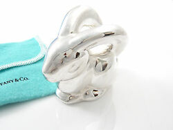 And Co Rare Silver Nature Animal Bunny Rabbit Baby Rattle