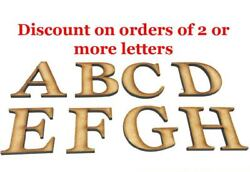 Wooden Letters Large Small Georgia Bold 2cm 40cm MDF Craft Extra Large Home Sign