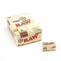 Raw Rolls Organic Unbleached Cigarette Rolling Papers Paper Box 24