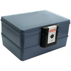 First Alert 0.39 Cu. Ft. Waterproof And Fire Resistant Chest With Key Lock Gray