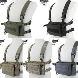 Quick Release Hunting Tactical Vest Chest Rig Can Fit For Airsoft Vest Backpack