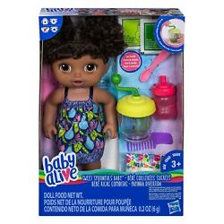 Baby Alive Sweet Baby Spoonfuls Aa Girl Black Baby Doll Food Included