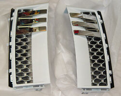 Range Rover 2003-12 L322 Oem Autobiography Fuji White Factory Painted Side Vents
