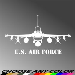 Us Air Force F-16 Fighting Falcon Fighter Jet Aircraft Decal Sticker