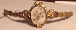 Victorian 15K Gold filled Bracelet w. Blond Hair Ca1860 (Mourning)