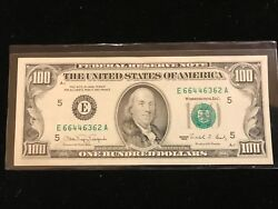 1990 100 Green Seal Frn Legal Tender United States Note Paper Money Offset