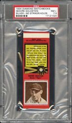 1934 Diamond Matchbooks Isidore Goldstein Extremely Rare Proof Psa 7.5+
