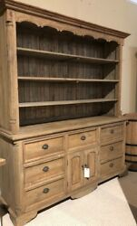 Farmhouse Buffet and Hutch Natural Finish AF