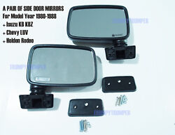 A Pair Of Rear View Side Door Mirror Isuzu Kb Kbz Chevy Luv Holden Rodeo 80-88