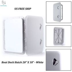 Marine Boat Deck Hatch Access Hatch And Lid 20 X 18 - White Amarine-made Us Ship