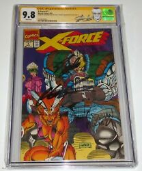 X-force 1 Cgc Ss 3x Signature Autograph Stan Lee Rob Liefeld Poly-bag Variant