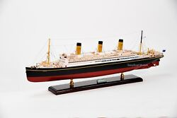 Rms Majestic White Star Ocean Liner Wooden Ship Model 38 Scale 1300 With Light