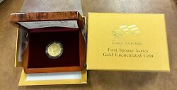 2009-w Anna Harrison First Spouse 10 Uncirculated Gold In Box 3645 Made