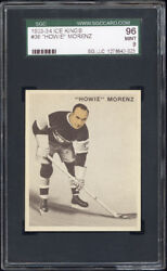 1933-34 World Wide Gum Ice Kings #36 Howie Morenz SGC 96 Mint Pop 1 HOBBY'S BEST