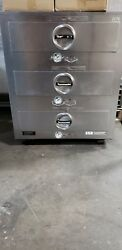 Toastmaster 3c84d Three Drawer Free Standing Stainless Steel Food Warmer 1635