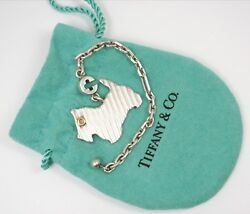 Rare Vintage Tiffany & Co Sterling Silver Scottie Terrier Dog Keyring Keychain