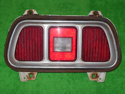 1973 Mustang Fastback Coupe Convertible Mach 1 Grande Orig Tail Light Assembly