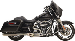 Bassani Xhaust Long Road Rage Iii Stainless 2-into-1 Exhaust System 1f21ss